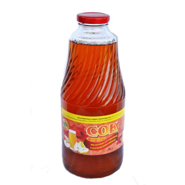 «Яблочно-грушевый сок» стерилизованный